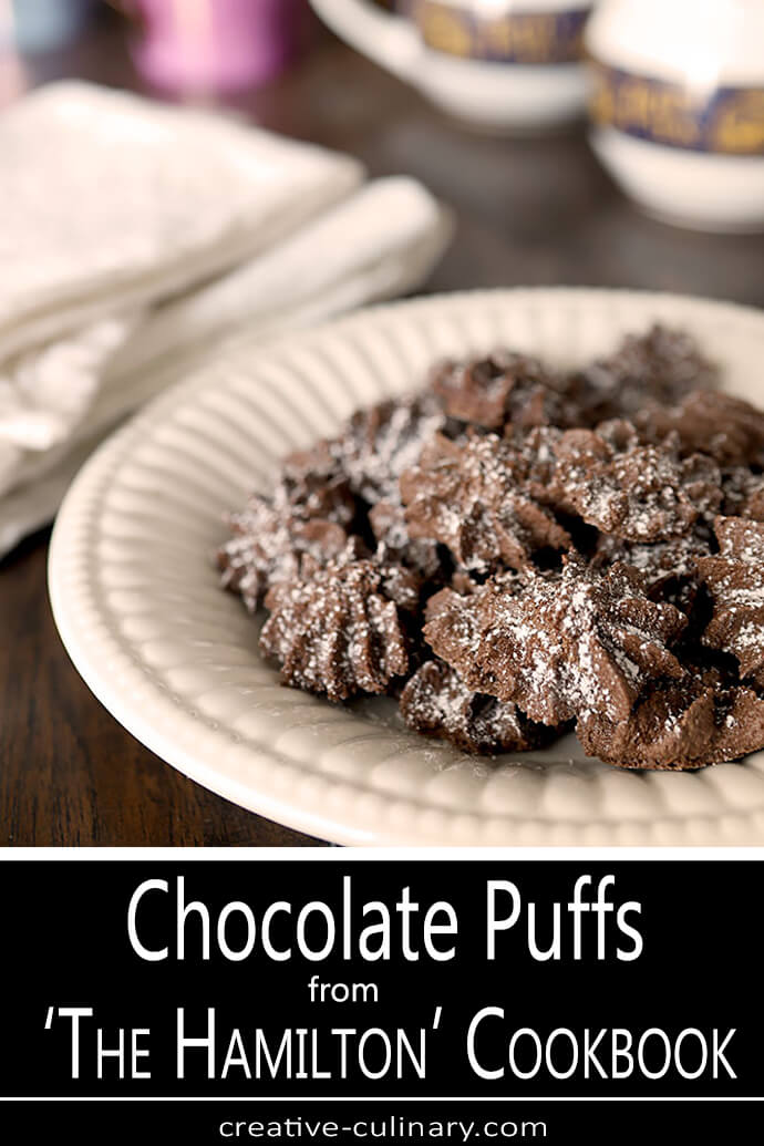 Chocolate Puffs on a White Serving Plate