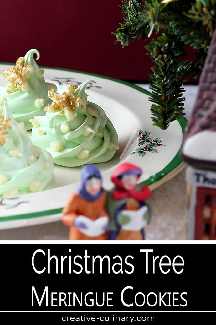Christmas Tree Meringue Cookies PIN