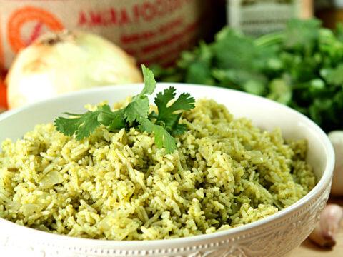 Cilantro Serrano Rice