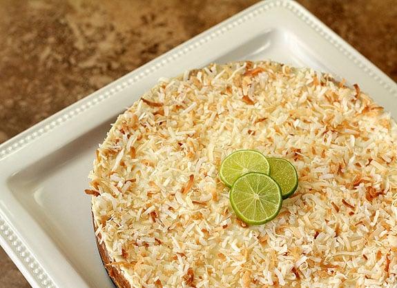 Coconut Key Lime Tart with Honey Yogurt Topping