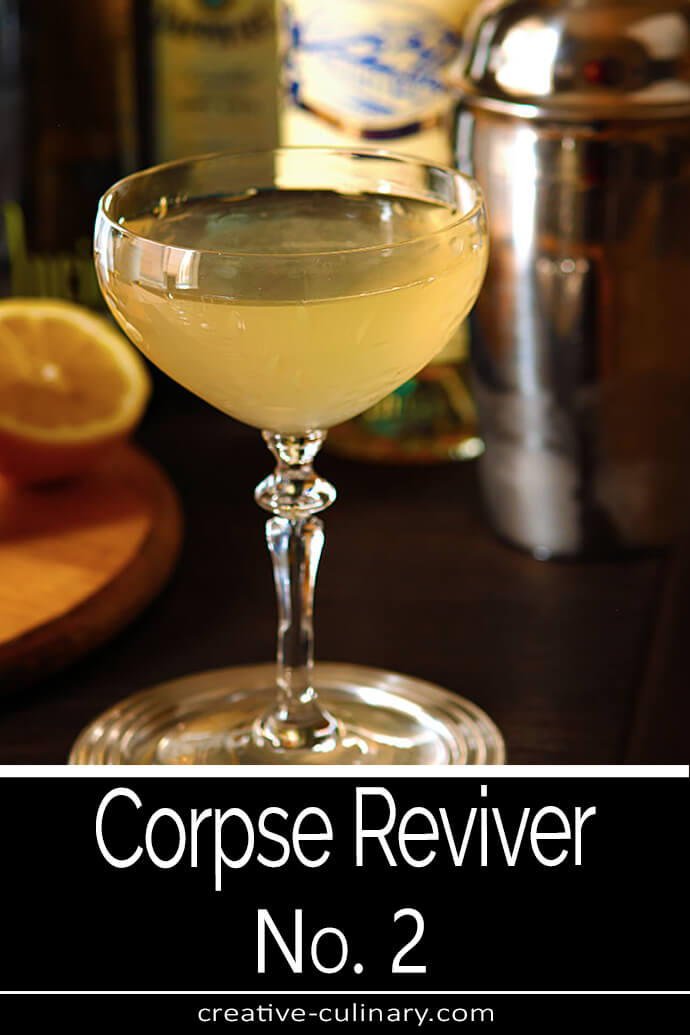 The Corpse Reviver No. 2 Served in a Coupe Glass