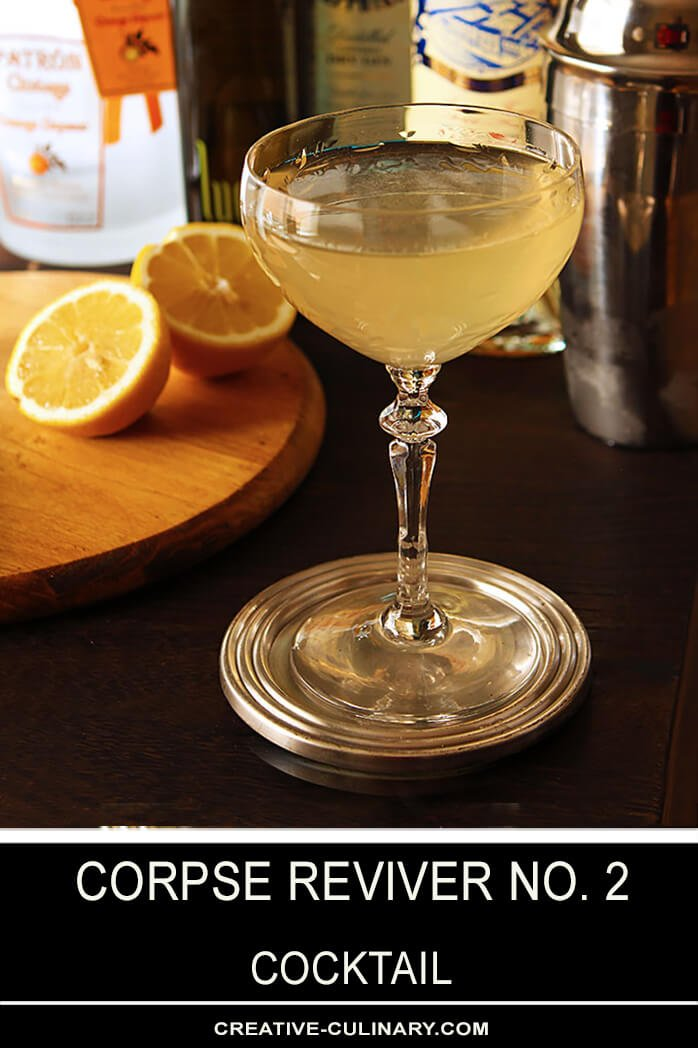Corpse Reviver No 2 Cocktail in a Coupe Glass