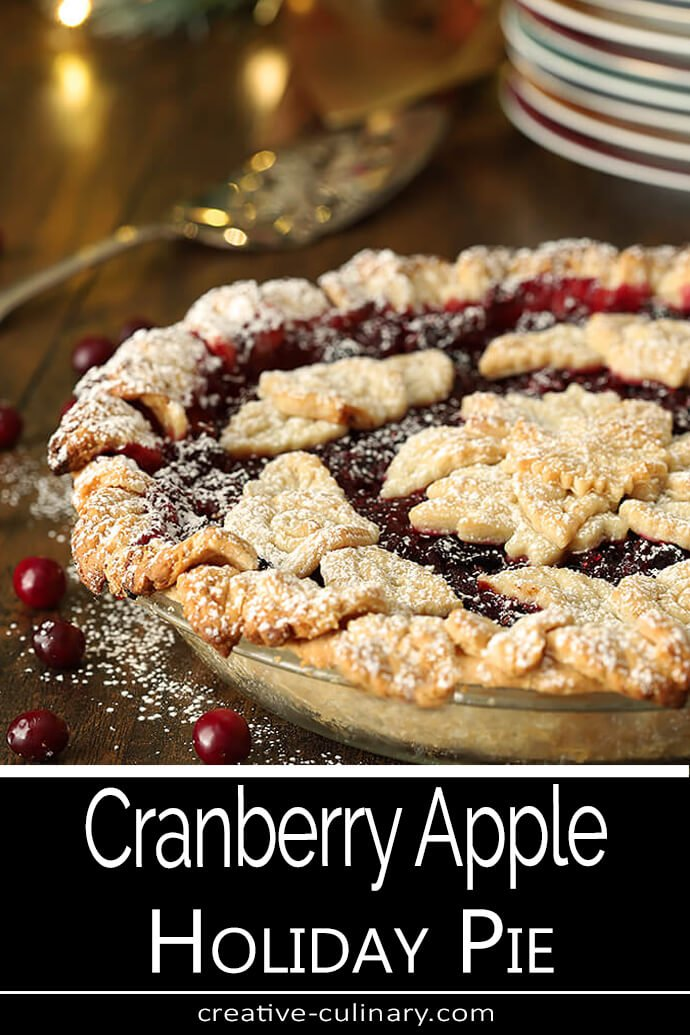 Cranberry Apple Pie with Grand Marnier Whipped Cream Pie with Cutout Leaves for Top Crust
