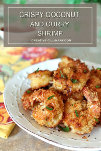 Plate of Crispy Coconut Shrimp with Curry