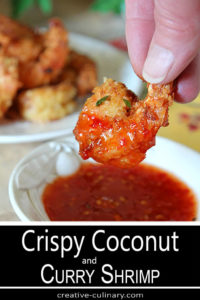 Crispy Coconut Shrimp with Curry and Dipping Sauce