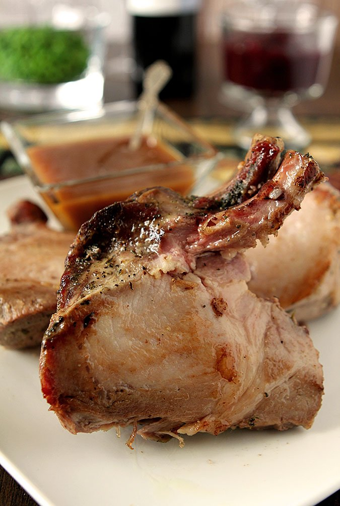 Crown Roast of Pork with Wild Rice Stuffing and Caramelized Orange Sauce