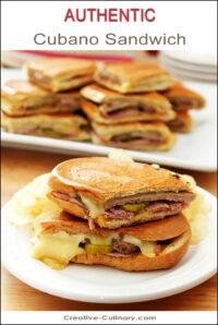Cubano Sandwich on White Plate