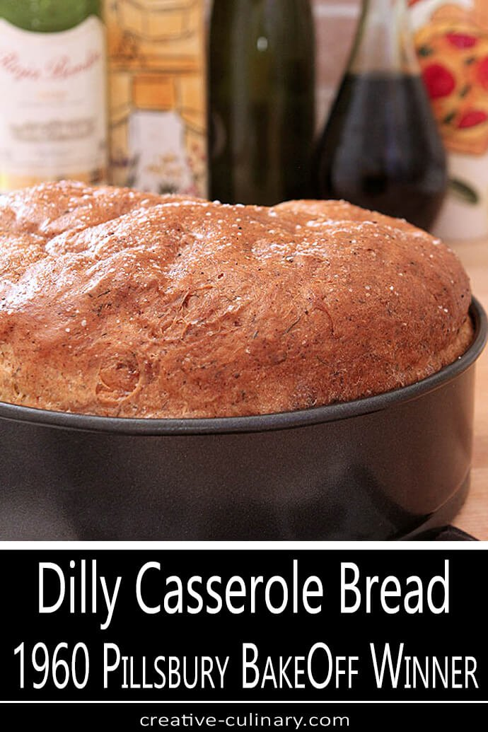 Dill and Cottage Cheese Casserole Bread in a Springform Pan