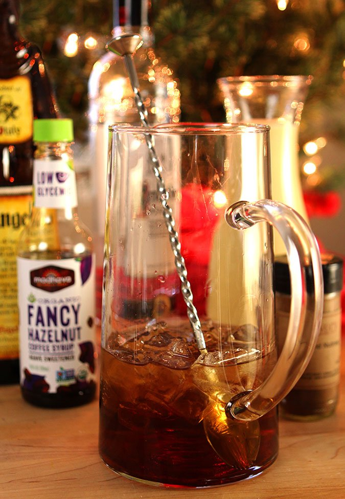 Eggnog Cocktail with Frangelico Ingredients