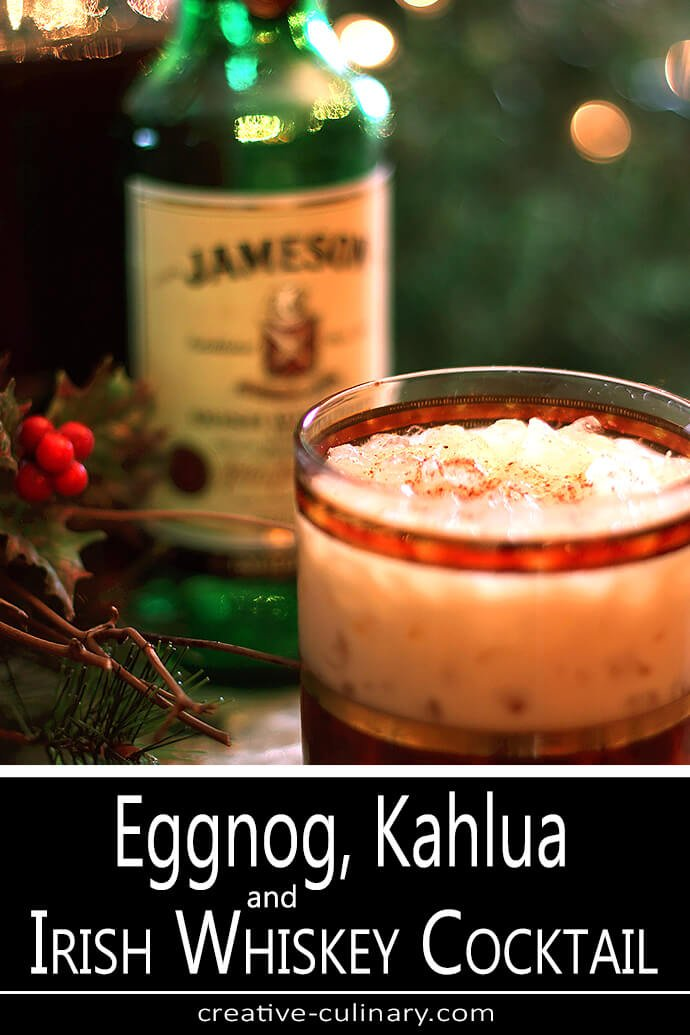Eggnog Kahlua and Irish Whiskey Cocktail PIN