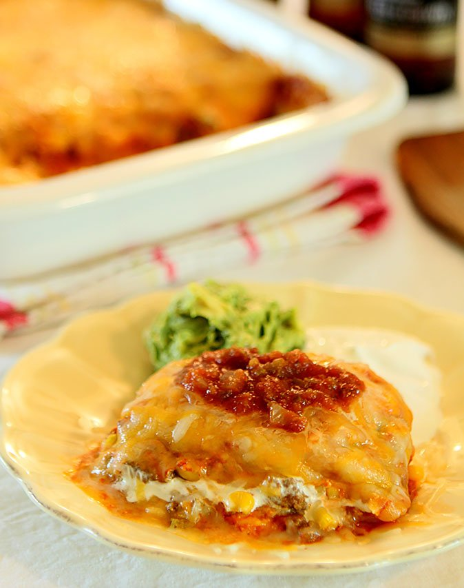 The Best Homemade Enchilada Casserole