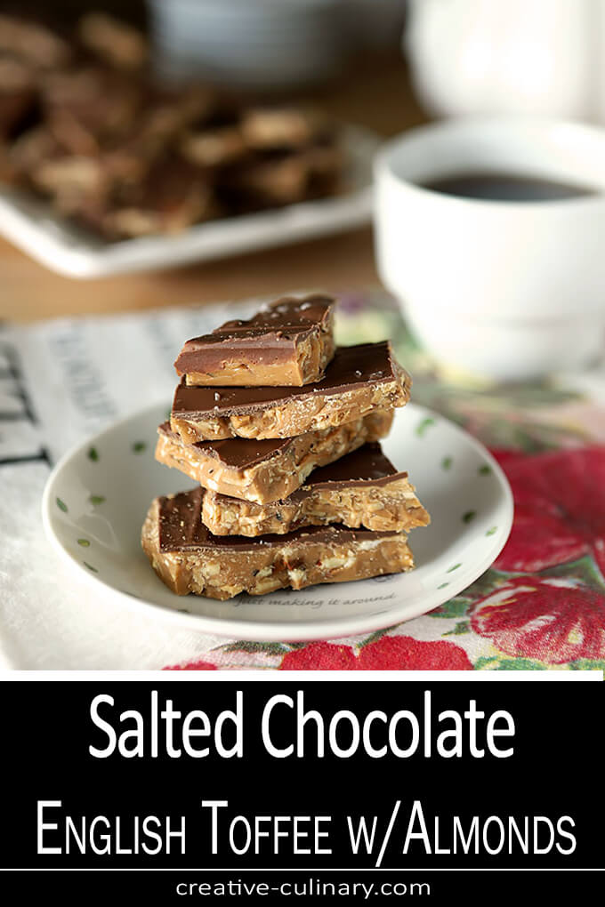 English Toffee with Almonds and Salted Chocolate PIN