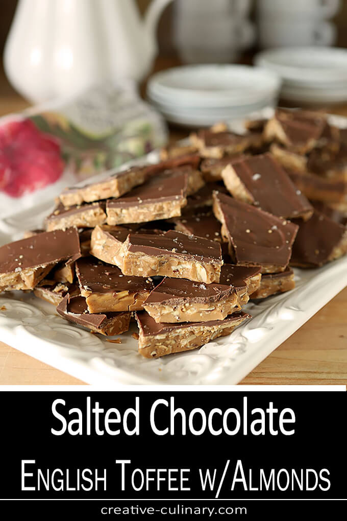 English Toffee with Almonds and Salted Chocolate PIN Two