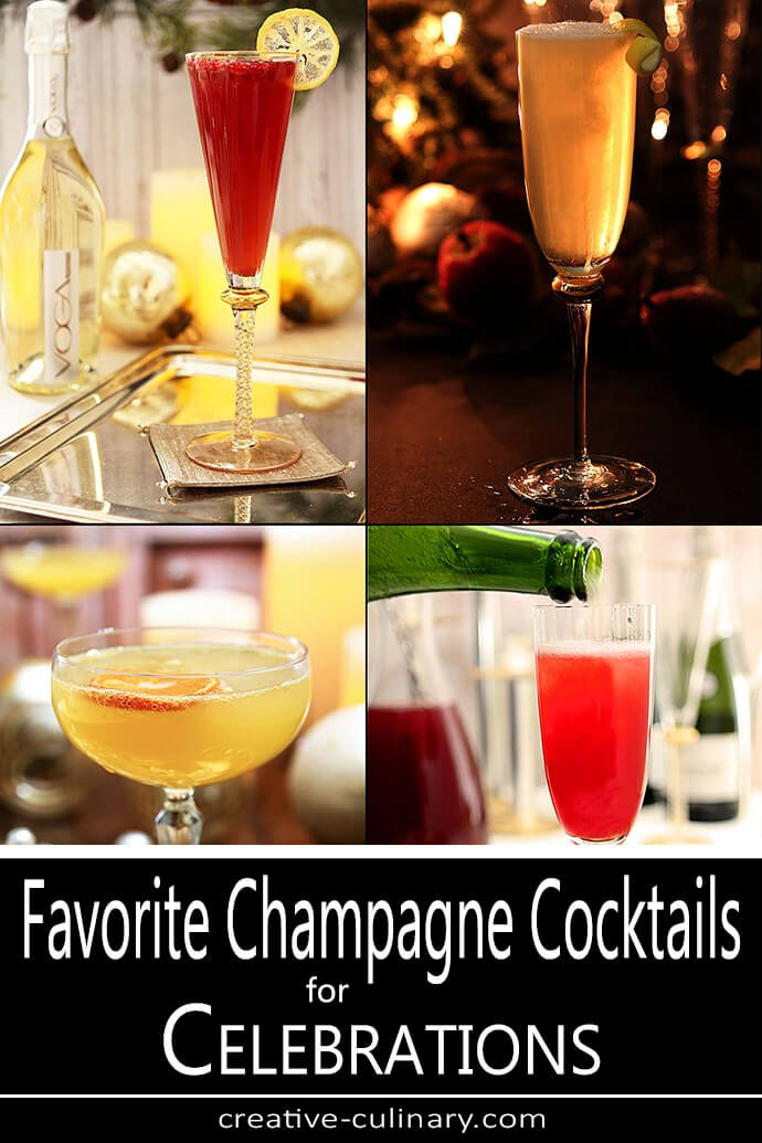 Favorite Champagne Cocktails for Celebrating Compilation PIN
