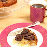 Goat Cheese Souffle with Caramelized Onions and Figs for #Baketogether