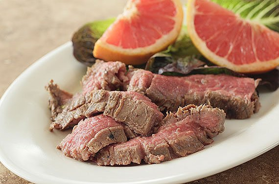 Flank Steak with Ginger and Grapefruit Marinade