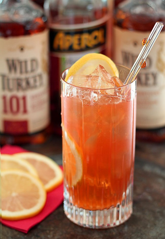 Wild Turkey, Aperol and Maple Syrup Cocktail