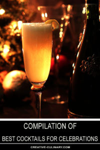 Best Cocktails for Celebrations Featuring the French 75 Cocktail Shown with a Bottle of Italian Prosecco