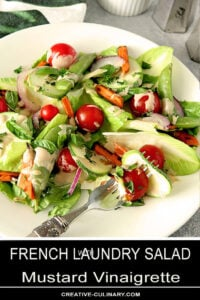 French Laundry Salad with Mustard Vinaigrette with Greens and Cherry Tomatoes
