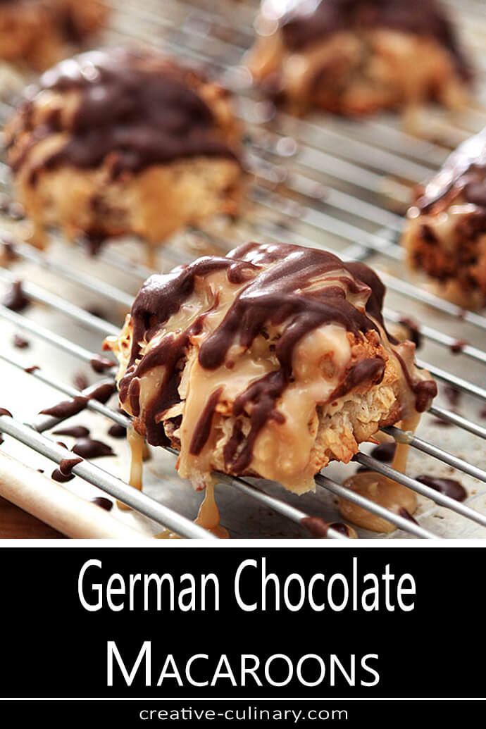 German Chocolate Macaroons on Cookie Sheet