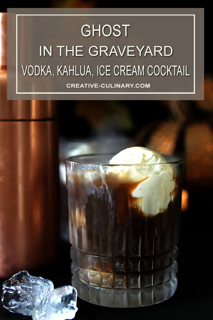 Ghost in the Graveyard Vodka & Kahlua Cocktail with Vanilla Ice Cream
