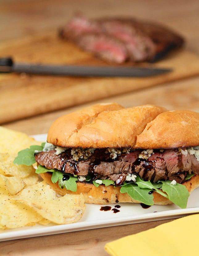 Balsamic Blue Cheese Steak Sandwich