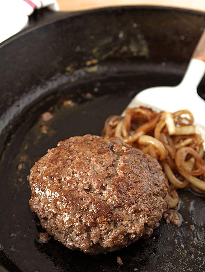 Gorgonzola and Mozzarella Cheese Stuffed Burger