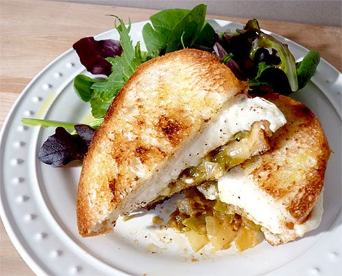 Grilled Queso Fresco Cheese Sandwich with Green Chiles