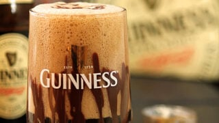 Guinness Float with Irish Cream Liqueur