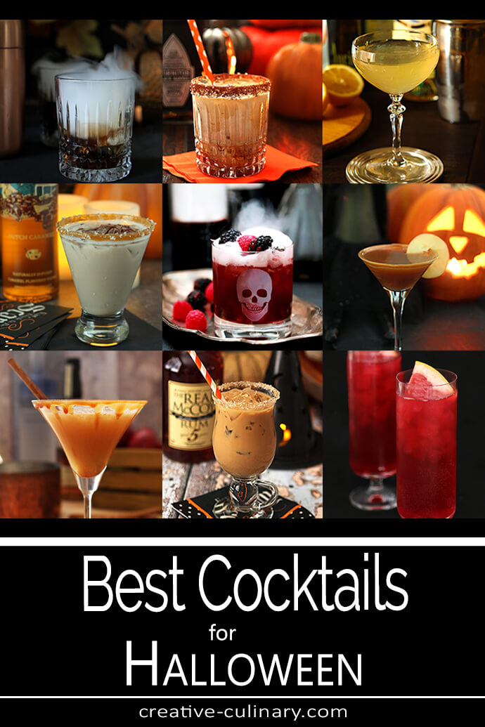 Halloween Cocktails - Assorted Links to Cocktails for Halloween 2019 PIN