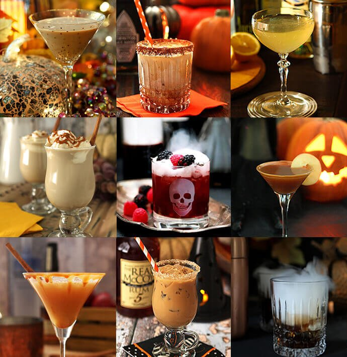 The Best Halloween Cocktails for 2020 Collage of Images