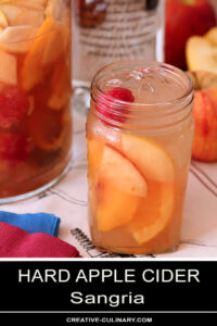 Hard Apple Cider Sangria in a Mason Jar