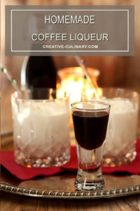 Homemade Coffee Liqueur Served in a Liqueur Glass