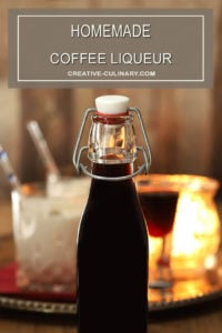 Homemade Coffee Liqueur Bottled in a Flip Top