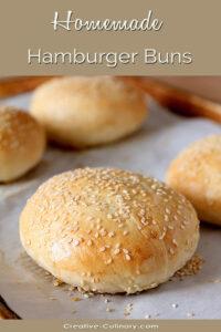 Homemade Sesame Seed Hamburger Buns