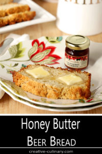 Honey Butter Beer Bread Served with Butter and Jam