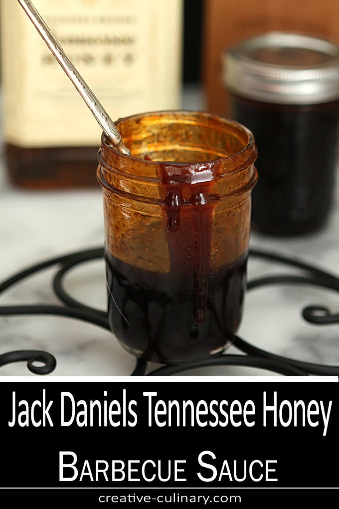 Jack Daniels Tennessee Honey Barbecue Sauce in a Jar