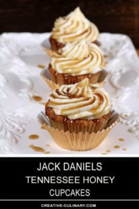 Jack Daniels Honey Whiskey Cupcakes