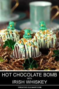 Hot Chocolate Bomb with St. Patrick's Day Decorations
