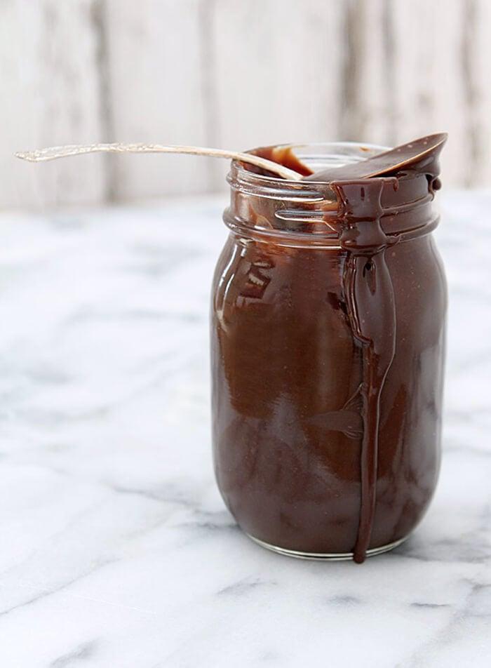 Best Hot Fudge Sauce in a Mason Jar