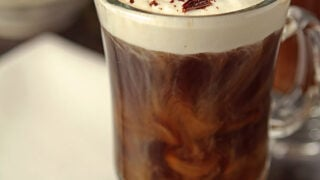A Classic Irish Coffee Cocktail