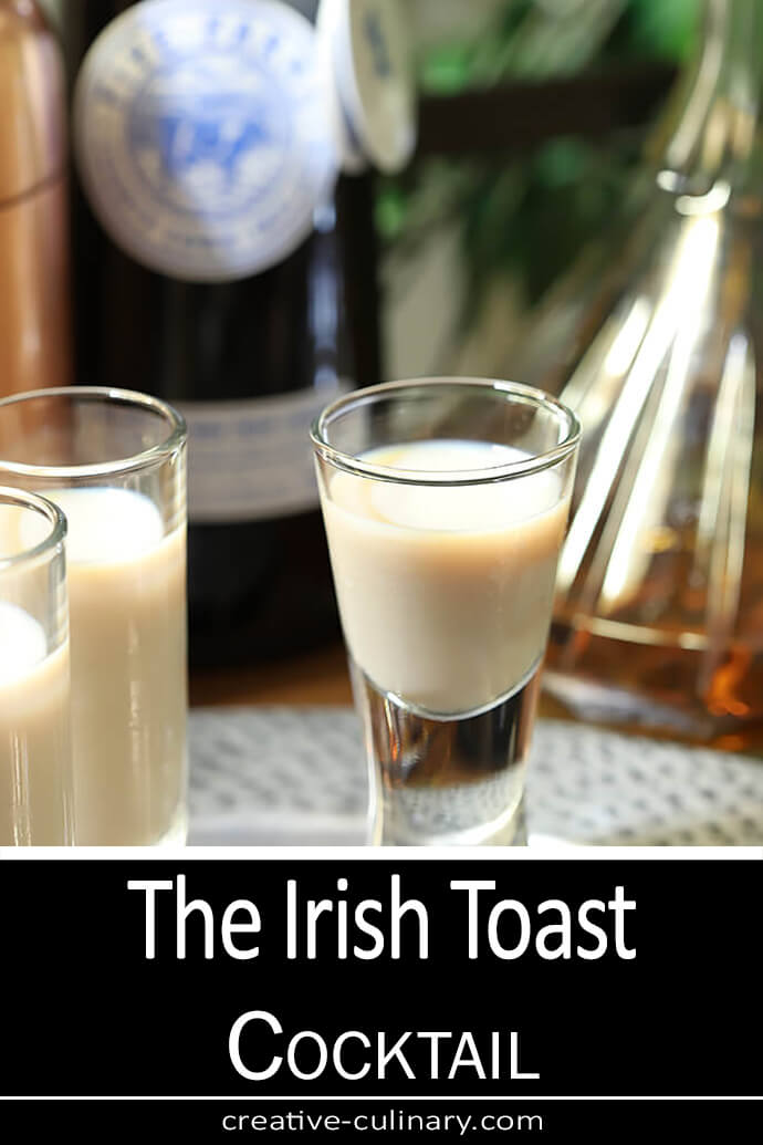 Irish Cream and Irish Whiskey are combined in a beautiful cocktail.