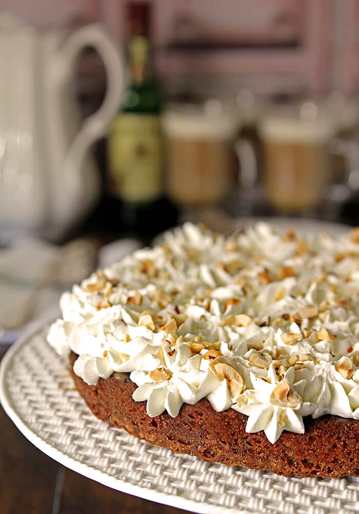 Irish Coffee Cake Dessert on Tiffany Cake Platter