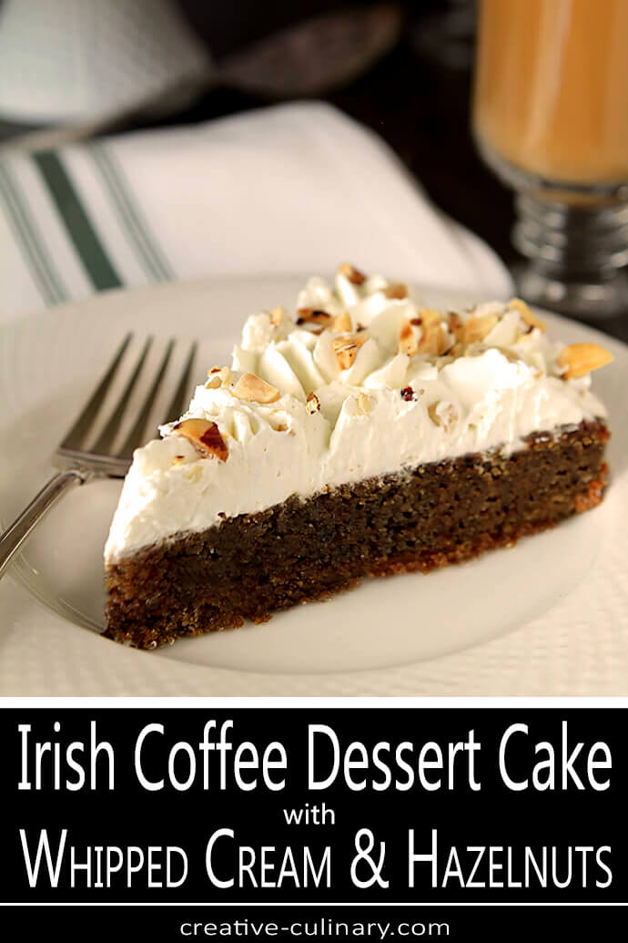 Sliced of Irish Coffee Dessert Cake on a White Plate