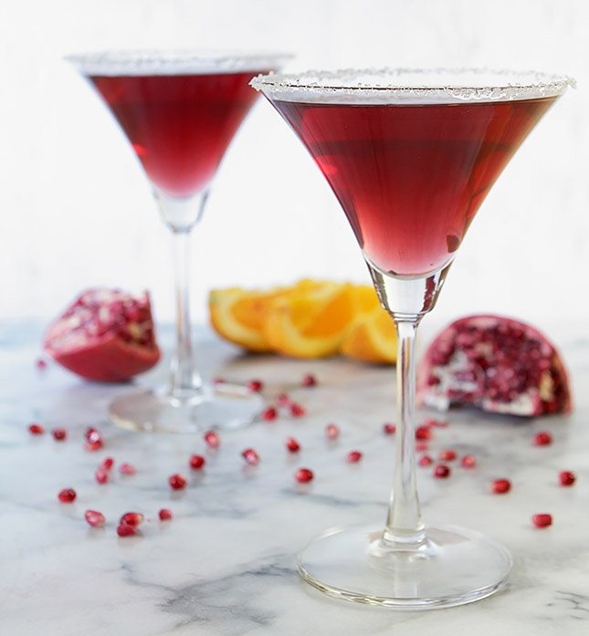 Pomegranate Izze-tini