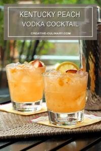 Kentucky Peach Vodka Cocktail in a Highball Glass