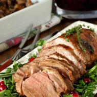 Roasted Lamb with Honey and Thyme Glaze