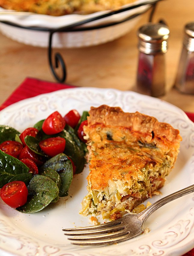 Leek and Bacon Quiche