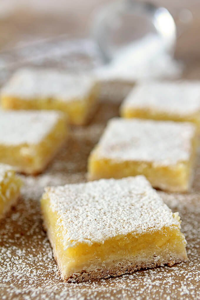 The Best Lemon Bars for A Crowd Decorated with Powdered Sugar