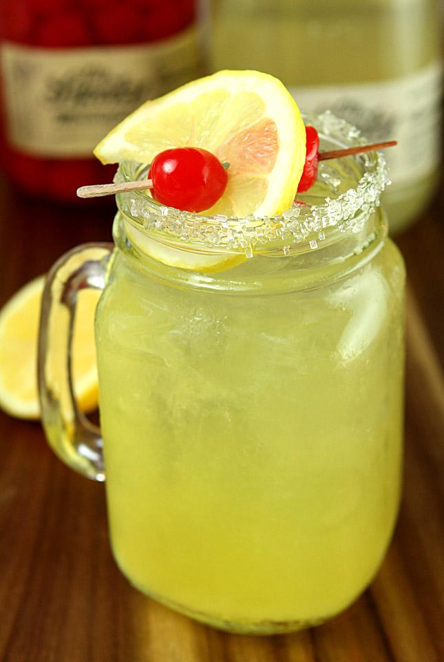 Double Lemon Drop Cocktail with Ole Smoky Moonshine